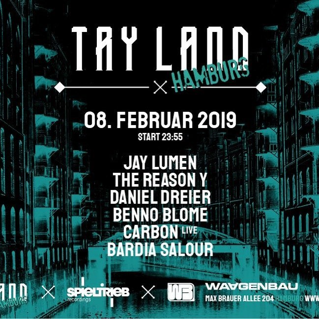 Instagram // You know where we will be on Friday getting weird at our favourite @waagenbau. TRY LAND x Spieltrieb Recordings feat. @jay_lumen, @thereasonyofficial, @bennoblome, @daniel_dreier, @carbon.official.music & myself (@bardiasalour). // #techno #house #hamburg #watergate #tryland #berlin